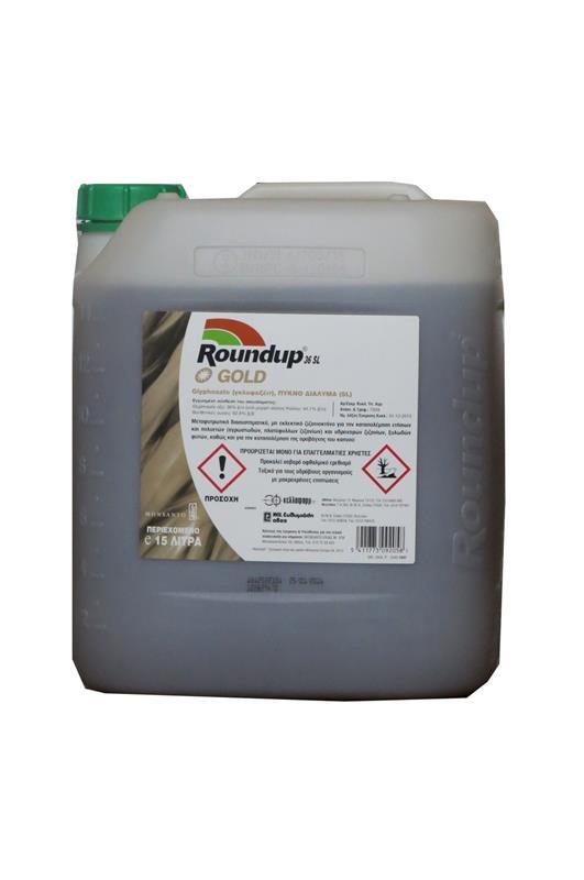 ROUNDUP GOLD 36 SL Glyphosate οξύ: 36% (υπο μορφή άλατος Καλίου:44,1%)
